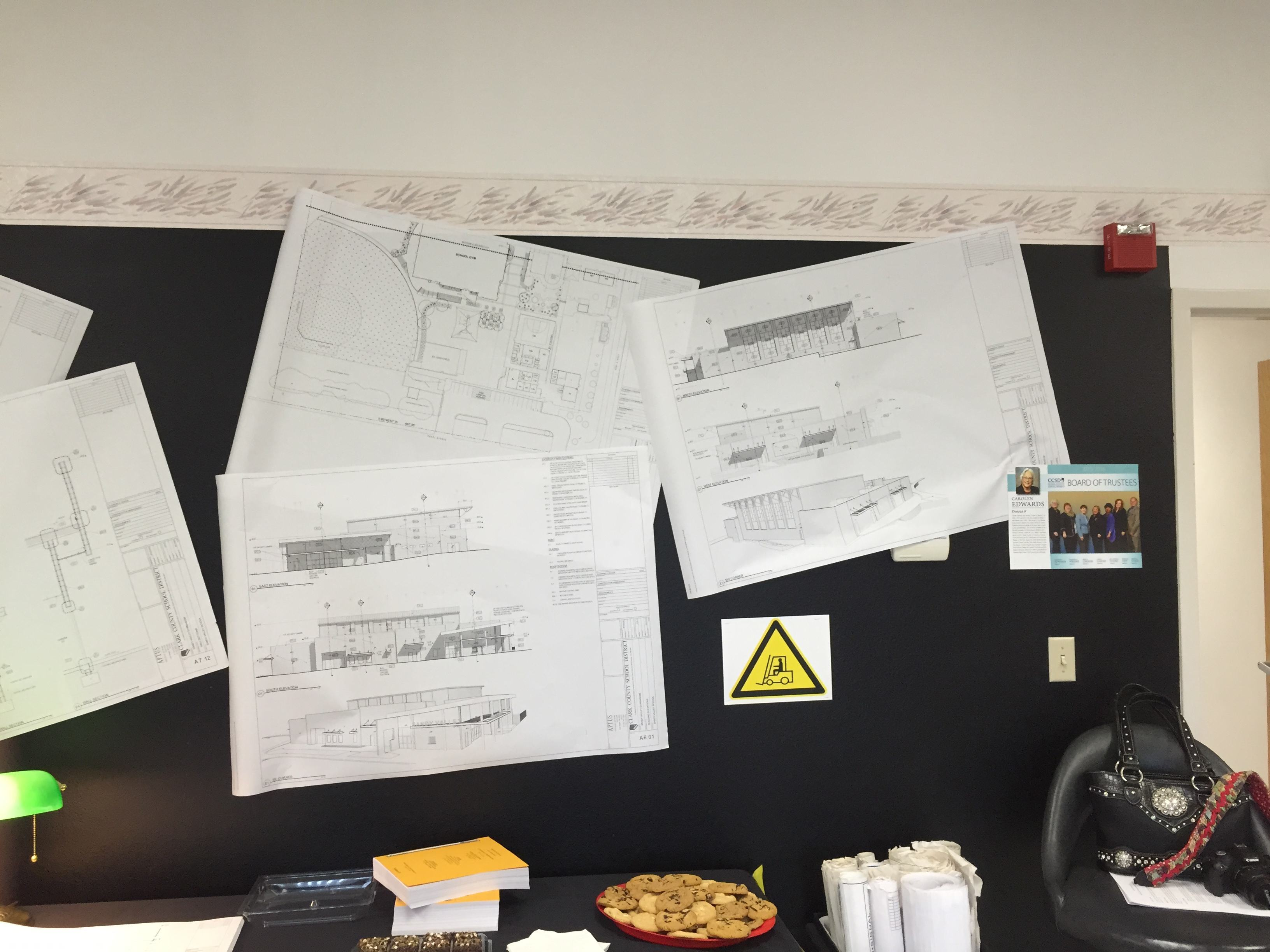 The Sandy Valley School staff decided to use our drawings as celebratory wallpaper in their break room. Thanks!